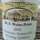 Riesling Spatlese Wehlener Sonnenuhr 2009, Dr Weins-Prum