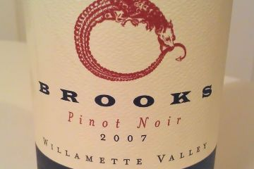 Brooks Janus Pinot Noir 2007 - it's scrummy!