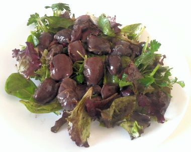 Duck gizzard salad