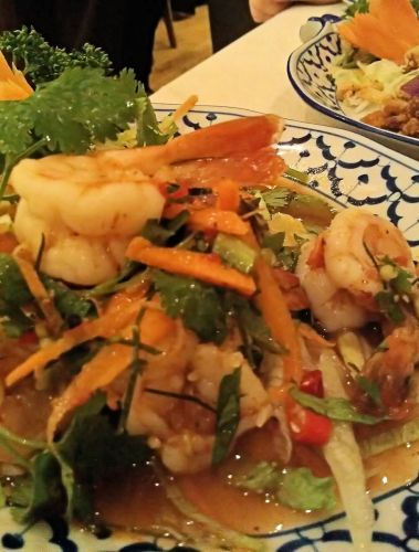 Prawn lemongrass salad made to absolute perfection