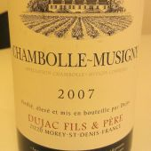 Chambolle-Musigny 2007, Dujac Fils &amp; Pere