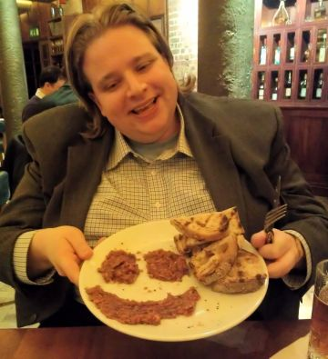 Seven Dials where smiling, happy Dani displays too-cold steak tartare