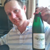 James with Fritz Haag Riesling
