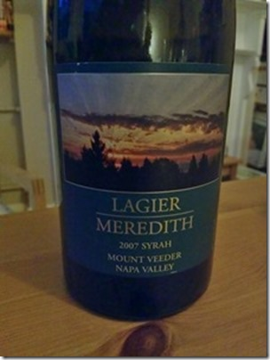 2007 Syrah by Lagier Meredith