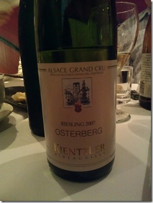 Riesling Grand Cru Osterberg 2007 from Kientzler