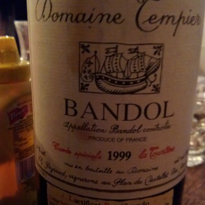 A bloody magnum of Tempier Bandol La Tourtine 1999