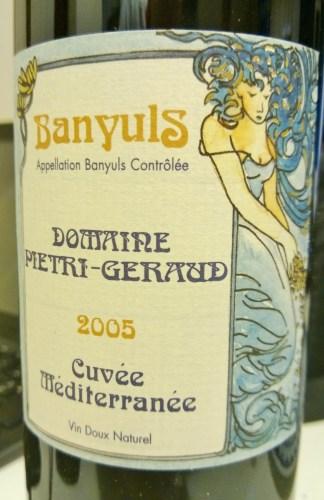 Banyuls Cuvee Mediterranee 2005