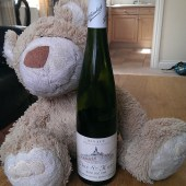 Toast the teddy with Trimbach Riesling Clos St Hune Vendanges Tardives 1989