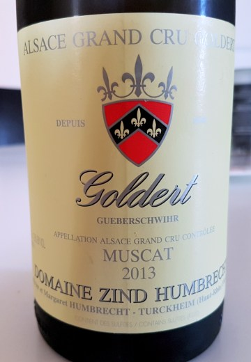 Zind-Humbrect Grand Cru Goldert Muscat 2013