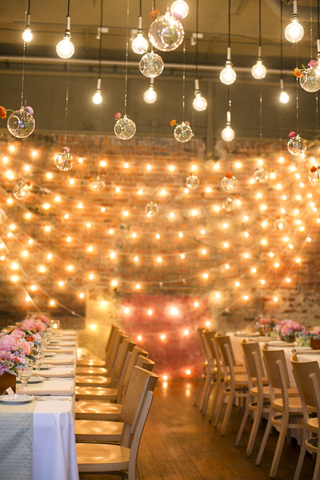 Wedding Decoration Ideas Wedding Reception With String Lights - Elizabeth Anne