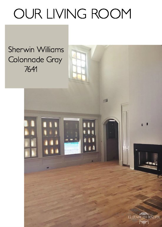 Sherwin Williams Amazing Gray Living Room