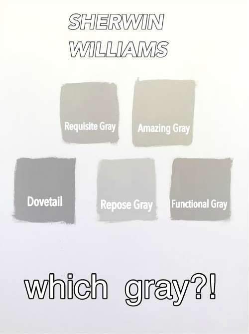 Sherwin williams gray versus greige for Popular grey paint sherwin williams