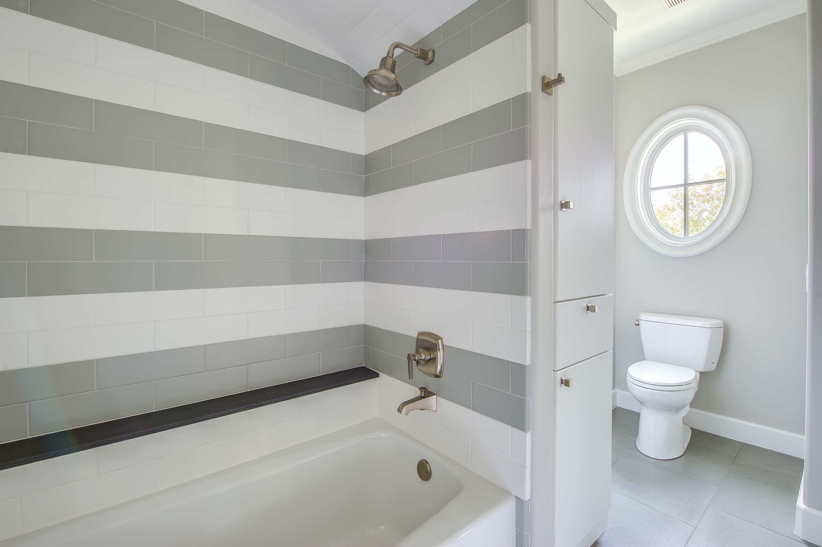 Cute Stitch Wallpaper With Glass Walls 31 Brilliant Grey Striped Bathroom Tiles Eyagci Com