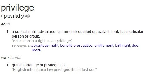 A Few Words About Privilege
