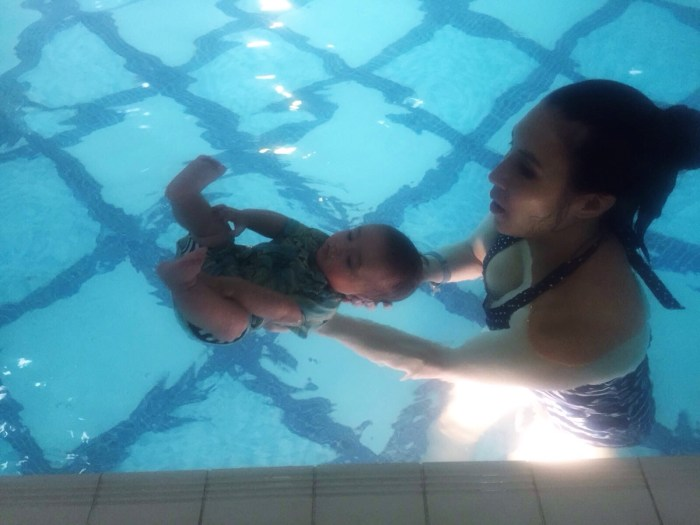 HB goes swimming