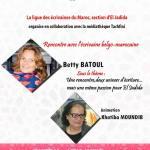 Betty Batoul à la médiathèque Driss Tachfini
