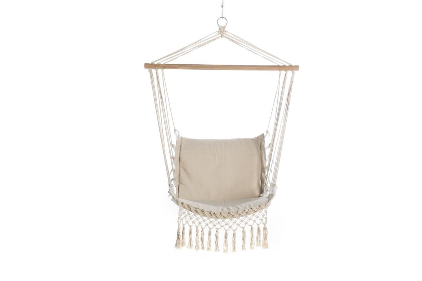 Hangstoel touw hangstoel 1 persoons brasil cappuccino