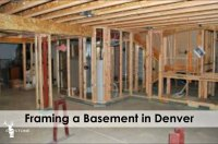 Framing a basement in Denver | ElkStone Basements