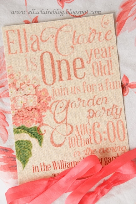 Linen Fabric Invitation Printing {Tutorial} and a Few Answers to