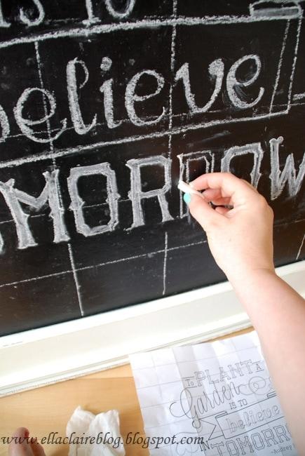 My Seasonal Chalkboard Art Roundup~ Free Templates and Tutorial - chalkboard writing template