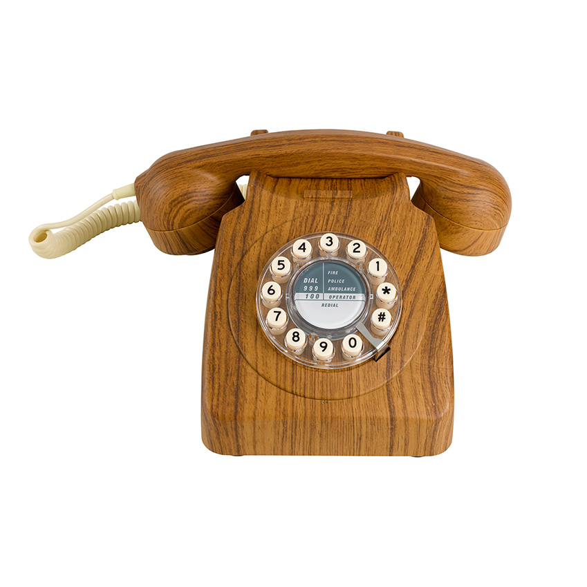 3d Wallpaper For Kitchen Wooden Telephone By Wild Amp Wolf