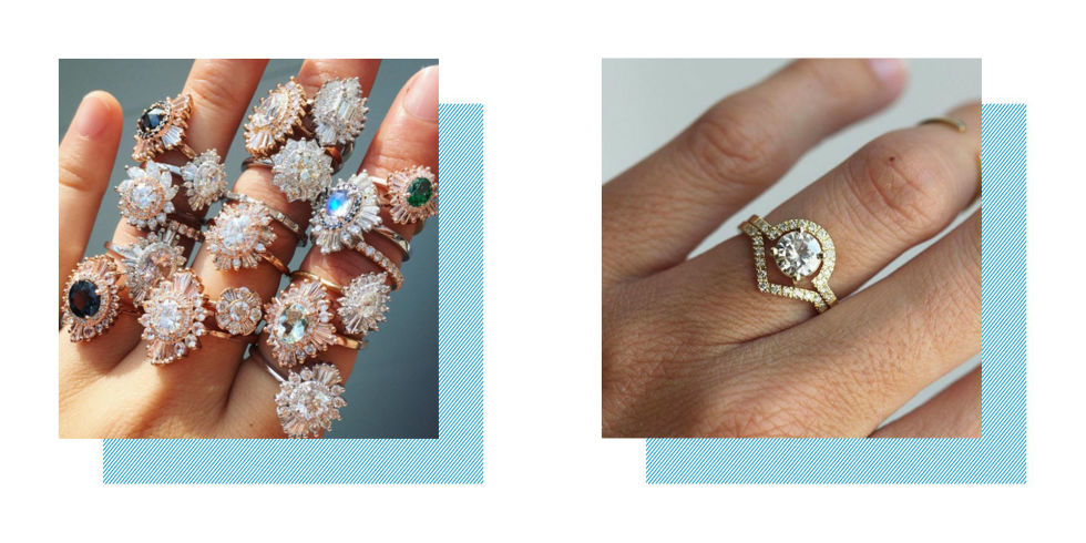 best engagement wedding rings on Etsy