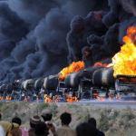 Καταρρίπτεται – Ρώσοι πυρπόλησαν αυτοκινητοπομπή με κλεμμένο πετρέλαιο