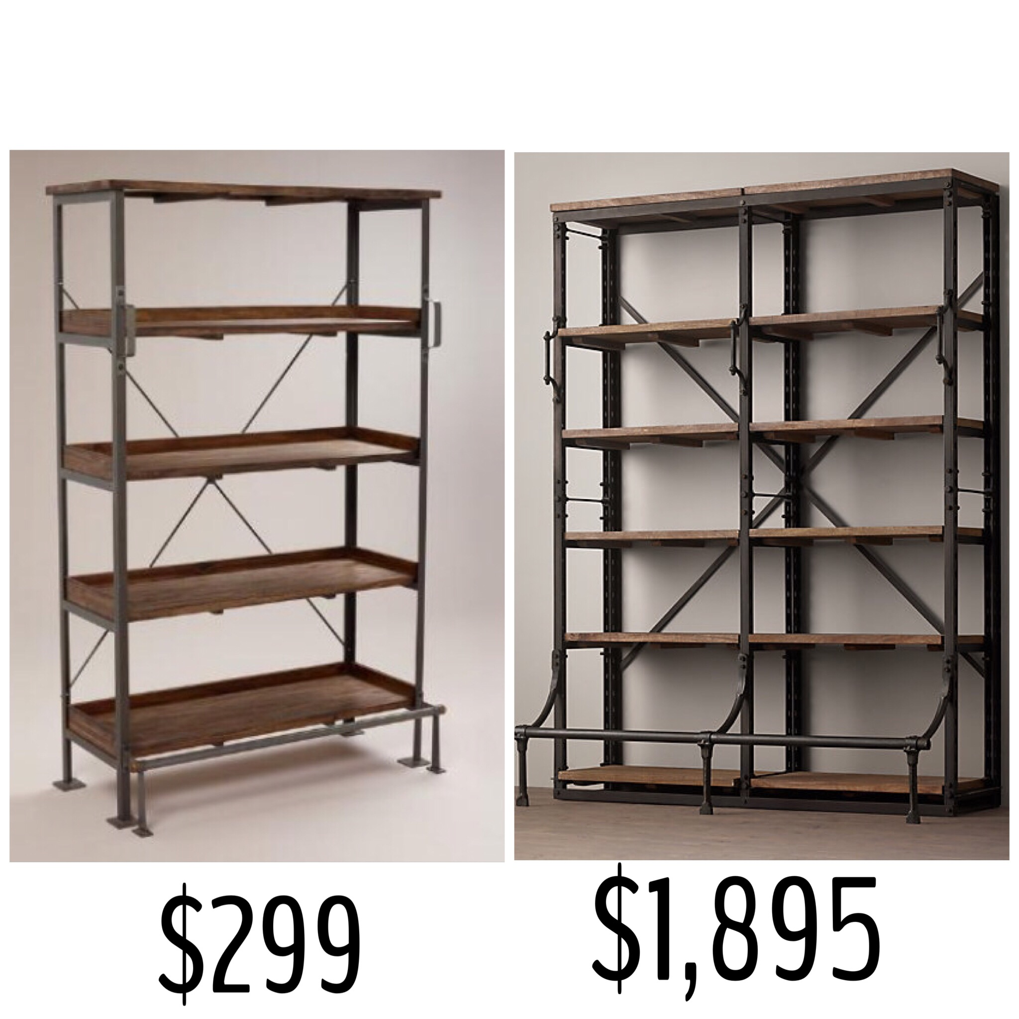 Decorative Industrial Shelving Industrial Shelving Look For Less Elliondecor