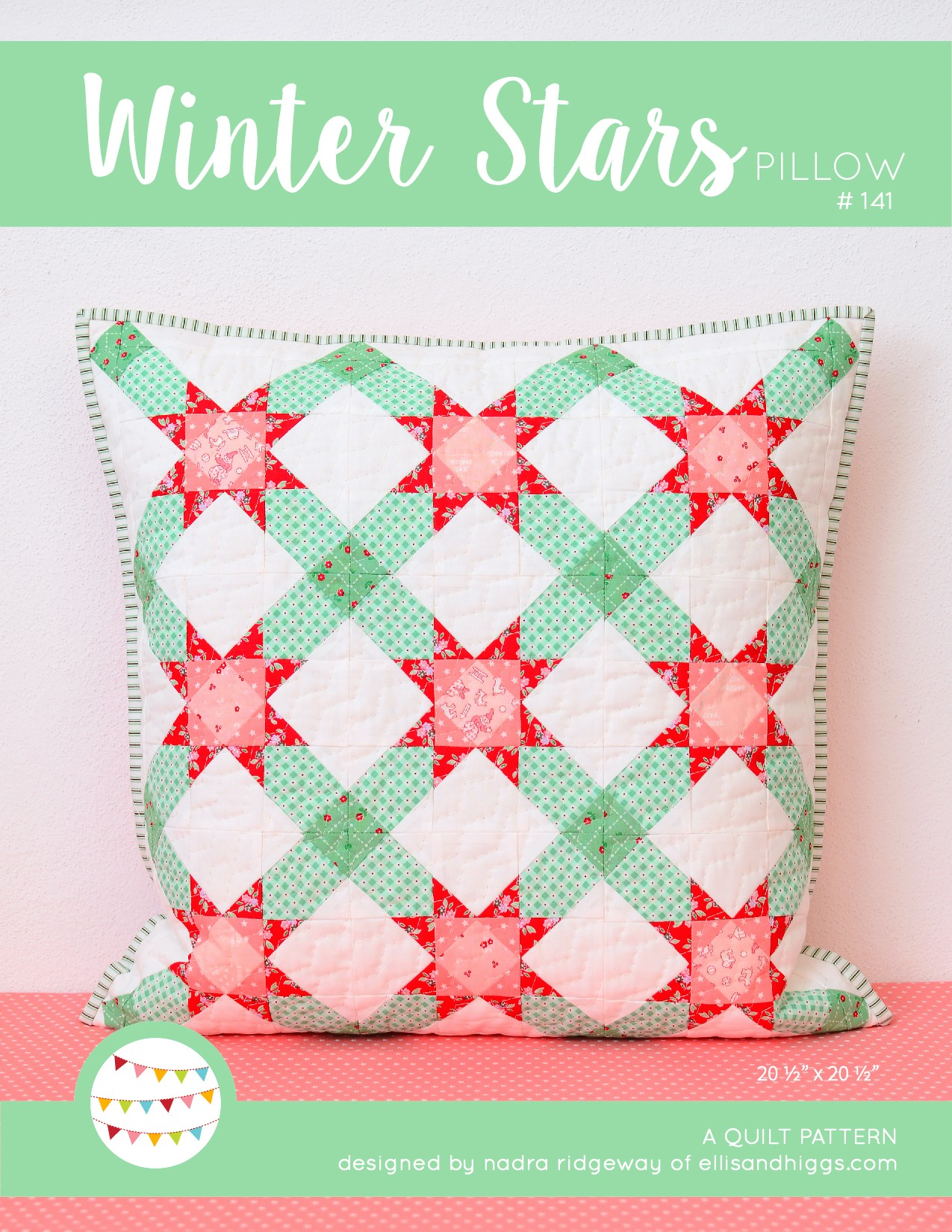 Quilt Wandbehang New Christmas Quilt Pattern Winter Stars Pillow Mini
