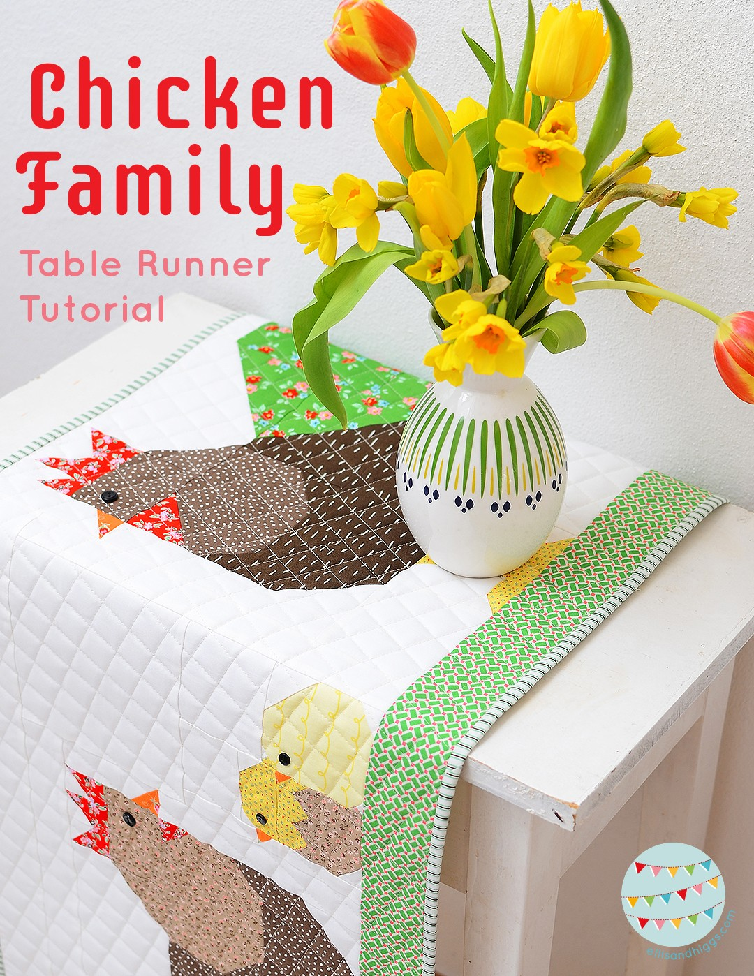 Quilt Und Patchwork Pakete Easter Quilt Table Runner A Free Tutorial And Pattern Add On