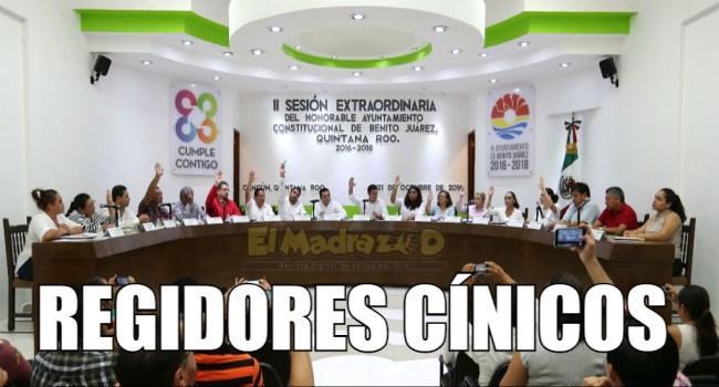 Regidores cínicos de Benito Juárez