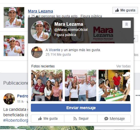 Página de Facebook fake