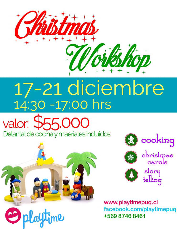 La navidad llega a Playtime con nuevos talleres de inglés para los