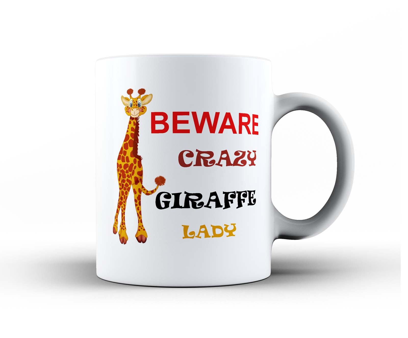 Animal Coffee Mug Crazy Lady Woman Funny Ceramic Office Coffee Tea Mug