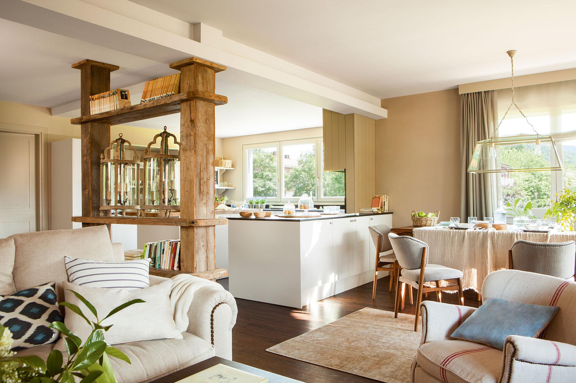 Salon Cocina Comedor | Salon Comedor Rectangular Deco Ideas ...