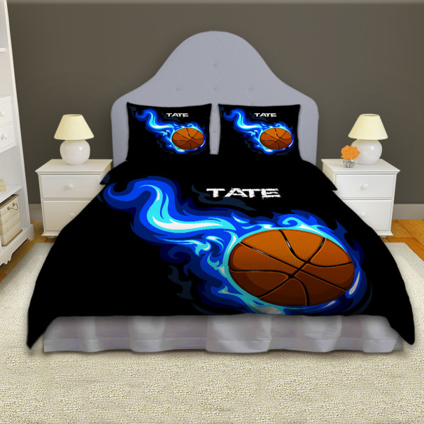 Can You Put A Comforter In A Duvet Cover Boys Basketball Personalized Comforter Set, Sports Bedding