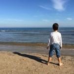 Fotos de Valencia, Teo en la playa