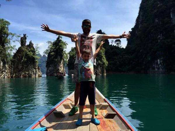 Fotos del viaje a Tailandia con niños, Pau y Teo en Khao Sok