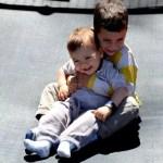 Teo y Oriol en el Gnomo Park