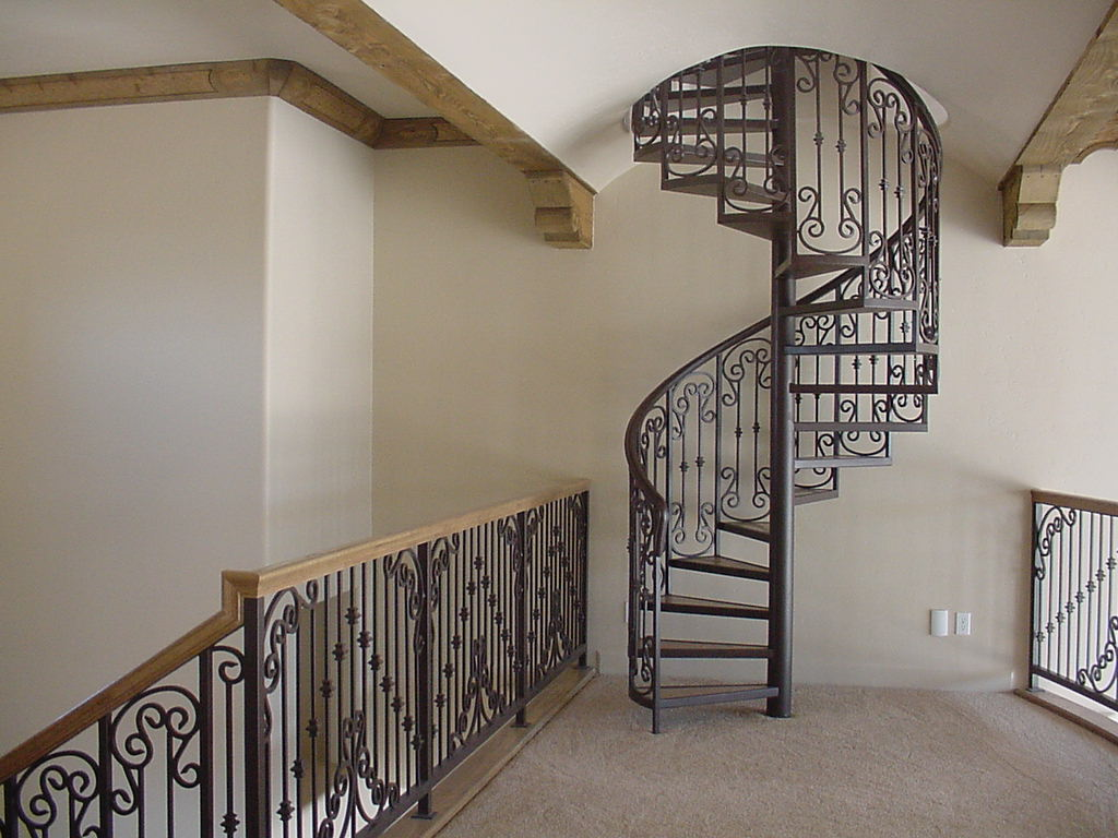 Staircase Designs For Small House El Paso Custom Iron Works Spiral Staircases