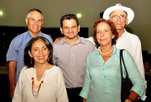 Miguel Pompilio Socarrás, Alex Rueda, Jorge Visbal, Marianne Sagbini y Luzmila Maestre.