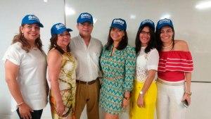 Martha Cala, Haydee Anillo, Carlos Morón Cuello, Letty Polo, Hedilka Jiménez y Vanessa Pertuz.