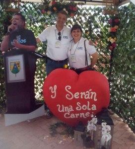 Darío Arregocés Baute y su esposa Ximena Cristina.