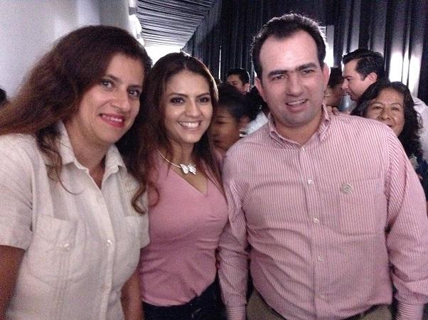 Mary Paz Monzón, Celina López y Pepe Yunes