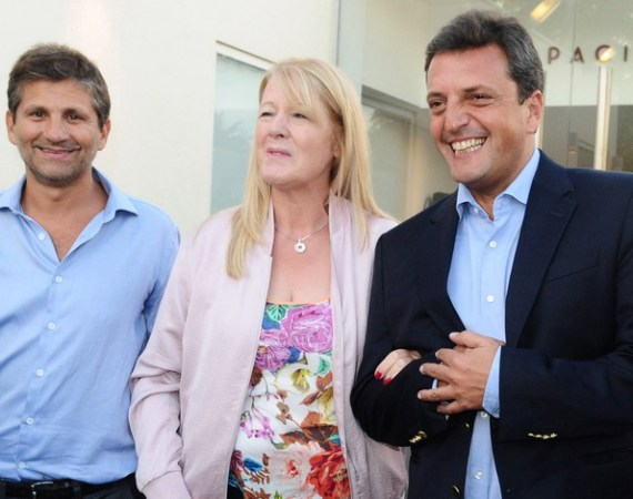 Ariel Ciano, Margarita Stolbizer y Sergio Massa