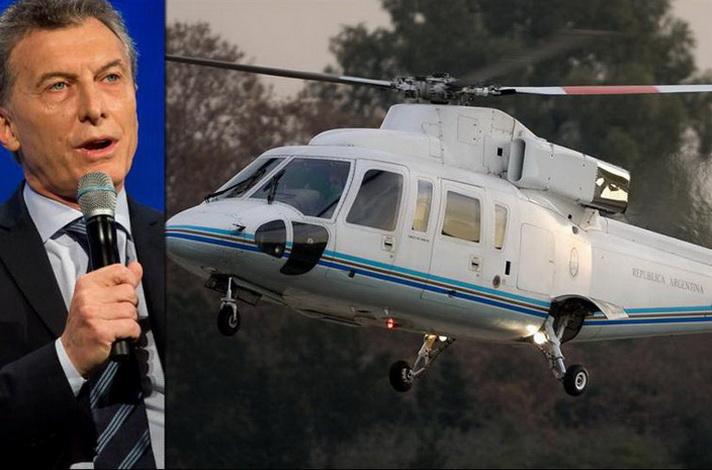 Helicóptero que llevaba a Mauricio Macri aterrizó de emergencia por fuertes vientos