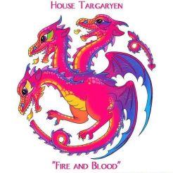 Casa Targaryen estilo Lisa Frank