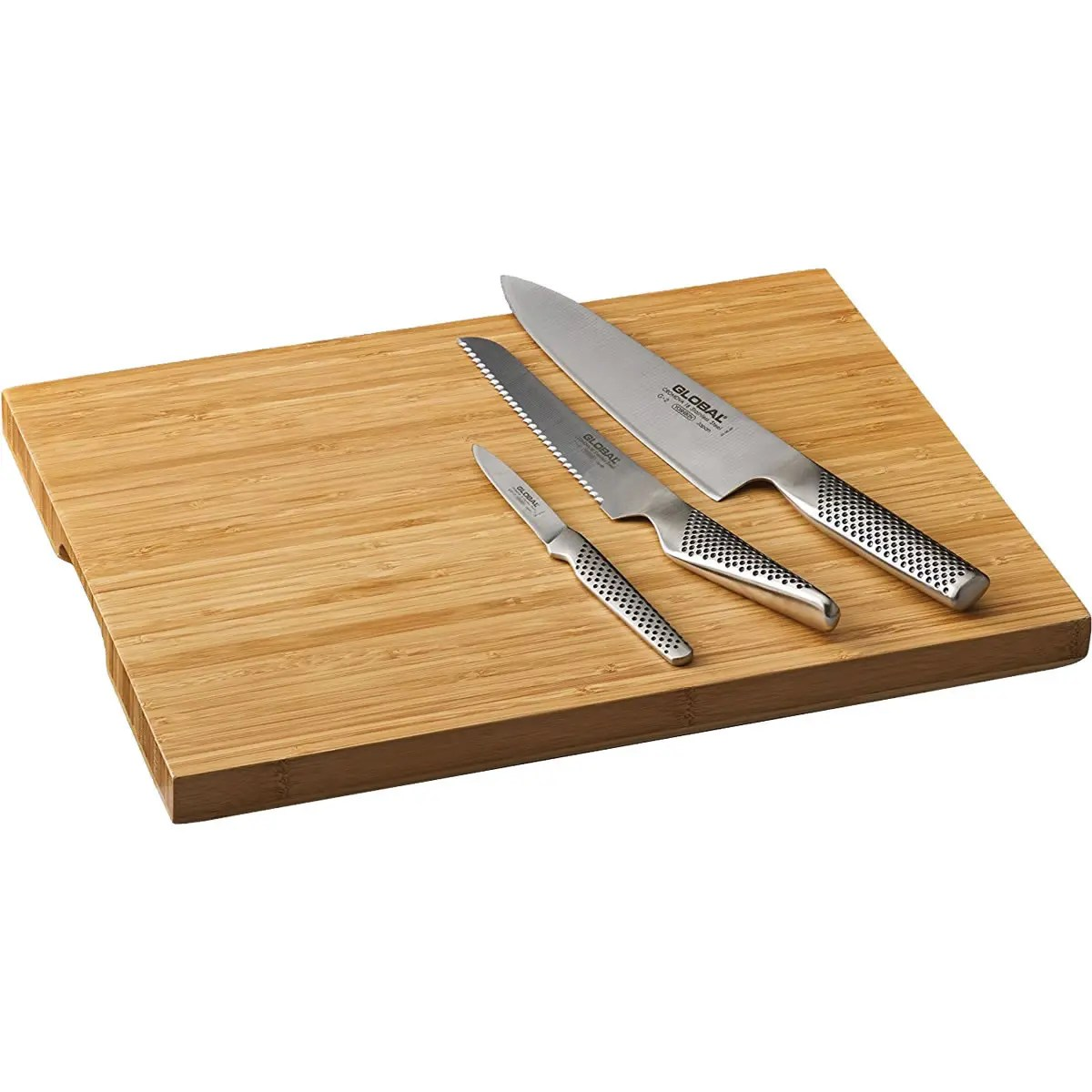 Chopping Knife Set Global 3 Piece Knife Set With Cutting Board G426115bd
