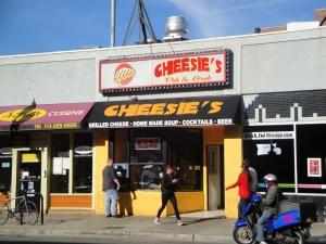 The old Cheesies shop front