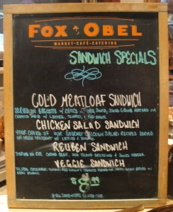 Fox and Obel Specials Menu